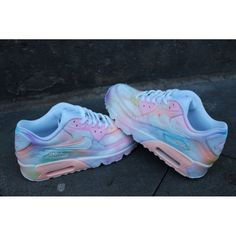 best authentic d7fc7 88141 Custom painted Nike Air Max 90 Cloudy pastell Dream Art Style Sneaker   UNIKAT