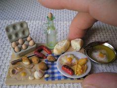 huevos fritos con patatas y chorizo - Las casitas de Narán