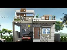 House Front Wall Design, House Balcony Design, House Main Gates Design, Single Floor House Design, House Outside Design, Modern Exterior House Designs, Village House Design, Duplex House Design, Kerala House Design