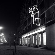 Neon sign, 60's. Warsaw, Neon Lighting, Poland, Neon Signs, Lights, Street, Leather Backpack, Architecture, Arquitetura