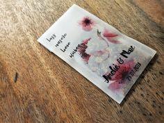 Gastgeschenk Hochzeit Vintage Blumensamen Wildblumensamen Liebe blühen Geschenke Hochzeit Gastgeschenke Amelie, Etsy, Guest Present Wedding, Guest Gifts, Craft Gifts, Love, Amelia