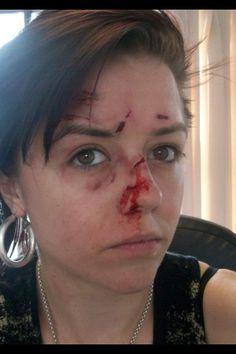 Beaten up makeup
