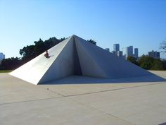 Kikar Levana is an environmental sculpture that sits atop a small hill, at the Edith Wolfson Park, in Tel Aviv.   The sculpture's name means White Square. It is located at the highest point in Tel Aviv where the city meets nearby Givatayim.     It is created by the Israeli sculptor Dani Karavan, who was born in Tel Aviv on December 7, 1930