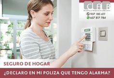 #SegurodeHogar - Declaro en mi póliza que tengo alarma? - #CABcorreduríaSegurosBaricentroSeguro de Hogar - Declaro en mi póliza que tengo alarma? - CAB