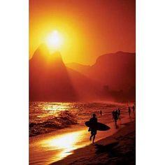 Ipanema Beach - Rio De Janeiro - Surfer, Photography Poster Print, 24 by 36