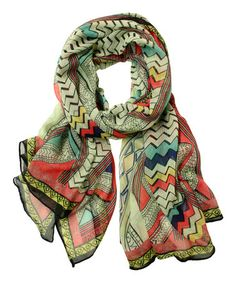 Another great find on #zulily! Brown Tribal Scarf by Printed Village #zulilyfinds