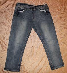 c0ac021ea54 Dollhouse Size 20 Distressed Denim Blue Jeans 38 x 28 Short Straight Leg   Dollhouse  plussize  jeans  denim  distressed