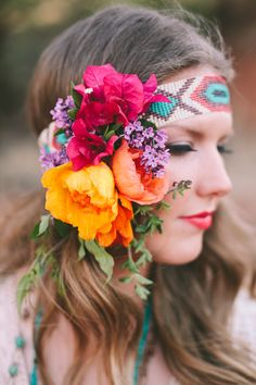Southwestern Inspiration Shoot in Texas at Palo Duro Canyon State Park Creative Wedding Ideas, Diy Wedding Projects, Floral Hair, Floral Crown, Bridal Flowers, Flowers In Hair, Paper Flowers, Hippie Chic, Boho Wedding