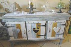 DIY Pallet #Sideboard or Kitchen #Cabinet | 101 Pallet Ideas