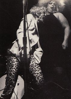 Stiv Bators of The Dead Boys w/ Divine at CBGB's (1978)