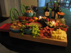 Appetizer platter for a recent dinner party I had.......on a Boos Block!!