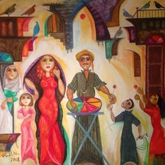 A painting of the Iraqi artist Star Luqmanلوحة فنية للفنان العراقي ستار لقمان