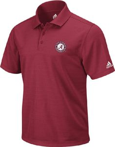 Men s University of Alabama Adidas ClimaLite Polo at End Zone Apparel 679ad4e8b