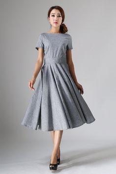 long+gray+dress++women+long+dress++maxi+dress++custom+by+xiaolizi