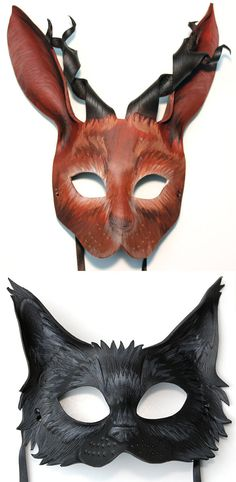 leather animal masks - Google Search