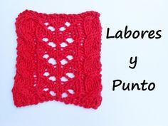 Aprende a tejer el punto fantasia calado 14 en dos agujas Knitting Videos, Crochet Videos, Knit Crochet, Crochet Hats, Knitting Machine Patterns, Tricks, Sewing, Crocheting, Stitches