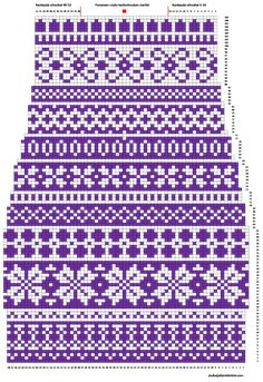 Kanervat varren kaavio Knitting Machine Patterns, Knitting Charts, Knitting Stitches, Knitting Socks, Free Knitting, Cross Stitch Borders, Cross Stitch Designs, Knitting Projects, Crochet Projects