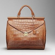 Burberry uomo, handbag in alligatore