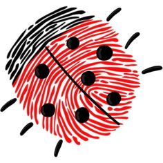 Basteln mit Fingerabdruck Marienkäfer