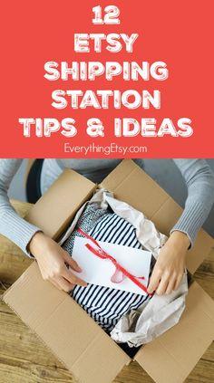 12 Etsy Shipping Station Tips & Ideas - Etsy Business on EverythingEtsy.com