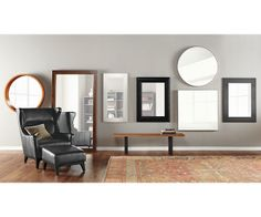 Marcel Leather Chair & Ottoman - Room & Board