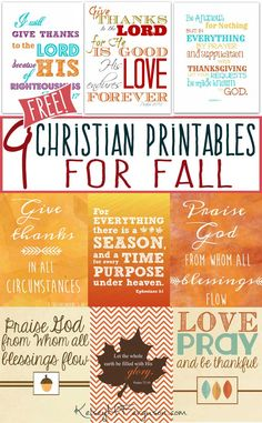 9 ((Free)) Christian Printables for Fall