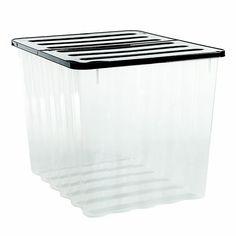 Strata Clear 110 L Plastic Storage Box Departments Diy At B Q