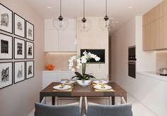warm-dining-design for a condo unit