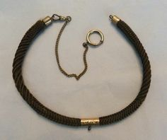 LONG ANTIQUE VTG VICTORIAN WM & CO WOVEN BRAIDED HAIR MOURNING POCKET WATCH FOB
