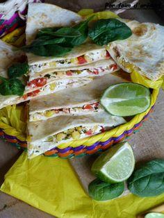 Quesadillas maïs, chèvre, poivron - Mexique