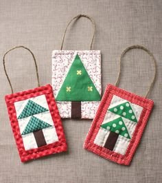 Looking for a new holiday tradition? Hand-craft keepsake ornaments for your Christmas tree with this mini Christmas tree quilt ornament tutorial, courtesy of Diary of a Quilter.