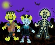 These Halloween monsters like to haunt cemeteries at night, and you can make them with Perler Beads! Frankenstein and his bride walk at midn...