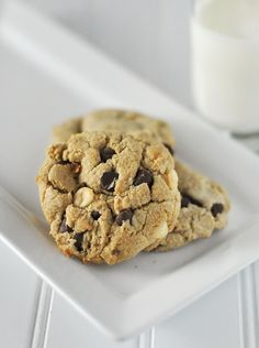 The BEST Triple Chocolate Chip Homemade Cookie Recipe Ever! -    Forget basic, these are the best cookies eva!