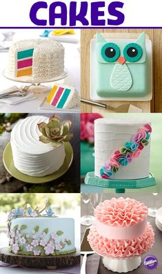 From fondant to buttercream, animal shapes and statement flowers, you'll surely find the perfect cake for your celebration with nearly 200 inspiration cakes on the Wilton Cakes board!