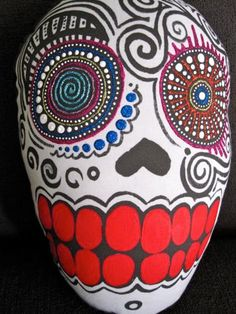 Day of the Dead Skull Pillow by MiVidaCreations on Etsy, $50.00