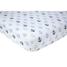 Shop a great selection of Little Love NoJo Separates Collection Anchors Printed Crib Sheet, Navy, 52 x 28 . Find new offer and Similar products for Little Love NoJo Separates Collection Anchors Printed Crib Sheet, Navy, 52 x 28 . Nautical Bedding Sets, Beach Bedding, Nautical Nursery, Nursery Bedding, Nautical Theme, Coastal Bedding, Crib Mattress, Crib Sheets, Crown Crafts