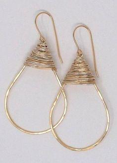 Ring Earrings, Wire Jewelry, Diy And Crafts, Crochet Earrings, Jewels, Bracelets, Handmade, Jewellery Maker, Room Inspiration