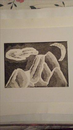 Mountain Print (2 of 2) Print made by Jennifer LeBlanc at Lakehead University in Thunder Bay (2009-2010).