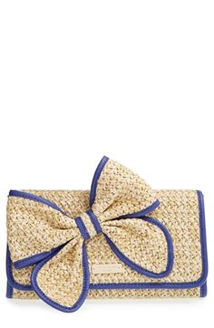 kate+spade+new+york+'belle+place+-+viv'+straw+clutch+available+at+#Nordstrom