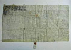 17th C. English Indenture Document  With Seal www.JJamesAuctions.com