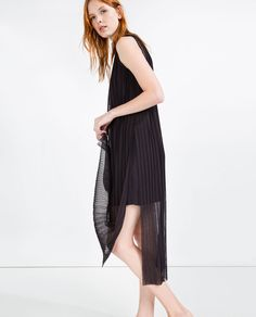 Image 2 of PLEATED DRESS WITH SLITS from Zara