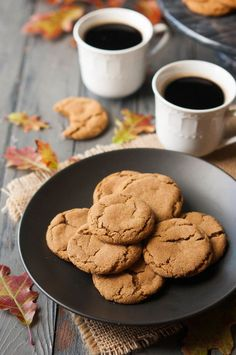 Soft & Chewy Gingersnap Cookies | thekitchenmccabe.com