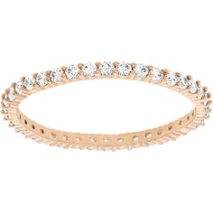 43b525136a72e Check out the deal on Swarovski Vittore Ring, Rose Gold-Plated at Precious  Accents, Ltd.