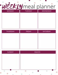 Meal Planning Ideas - Healthy Family-Friendly and Budget Tips for planning a week of healthy meals for your family! Week Of Healthy Meals, Meals For The Week, Easy Dinner Recipes, Easy Meals, Weeknight Meals, Easy Recipes, Keto Recipes, Healthy Recipes, Easy Meal Plans