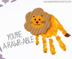 """This week we were inspired by our latest project our recycled 2 Liter Soda Bottle Lion Craft, and came up with these a-rawr-able handprint lion cards. This would be the perfect card for Valentine's Day or even Mother's Day. """"You're A-rawr-able"""" Handprint Lion Card This post contains affiliate links. Please see my disclosure policy. Material Needed: Card …"""