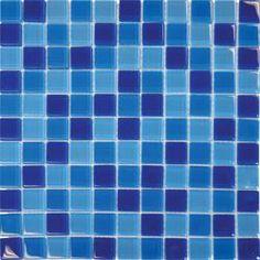 BuildDirect: Glass Mosaic - Blue Blend | 1