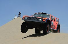Robby Gordon and co-pilot Kellon Walch of team Hummer compete during the stage from Pisco to Pisco on day two of the 2013 Dakar Rally on January 6, 2013 in Pisco, Peru.