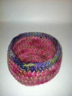 Crochet Felted Bowl by peacelovecreations on Etsy, $10.00