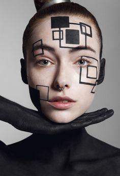 Abstract Geometry – Zodiac Magazine – Valeria (D models) by … – Eye Makeup Ideas Crazy Makeup, Love Makeup, Makeup Inspo, Makeup Inspiration, Beauty Makeup, Makeup Eyes, Creative Makeup Looks, Make Up Art, Makeup Photography