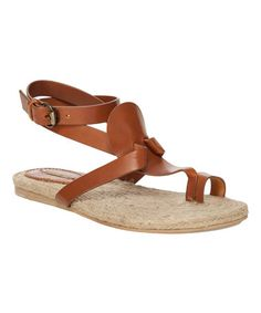 1f544c553817d Love this Cognac Junior Leather Sandal on  zulily!  zulilyfinds Leather  Sandals
